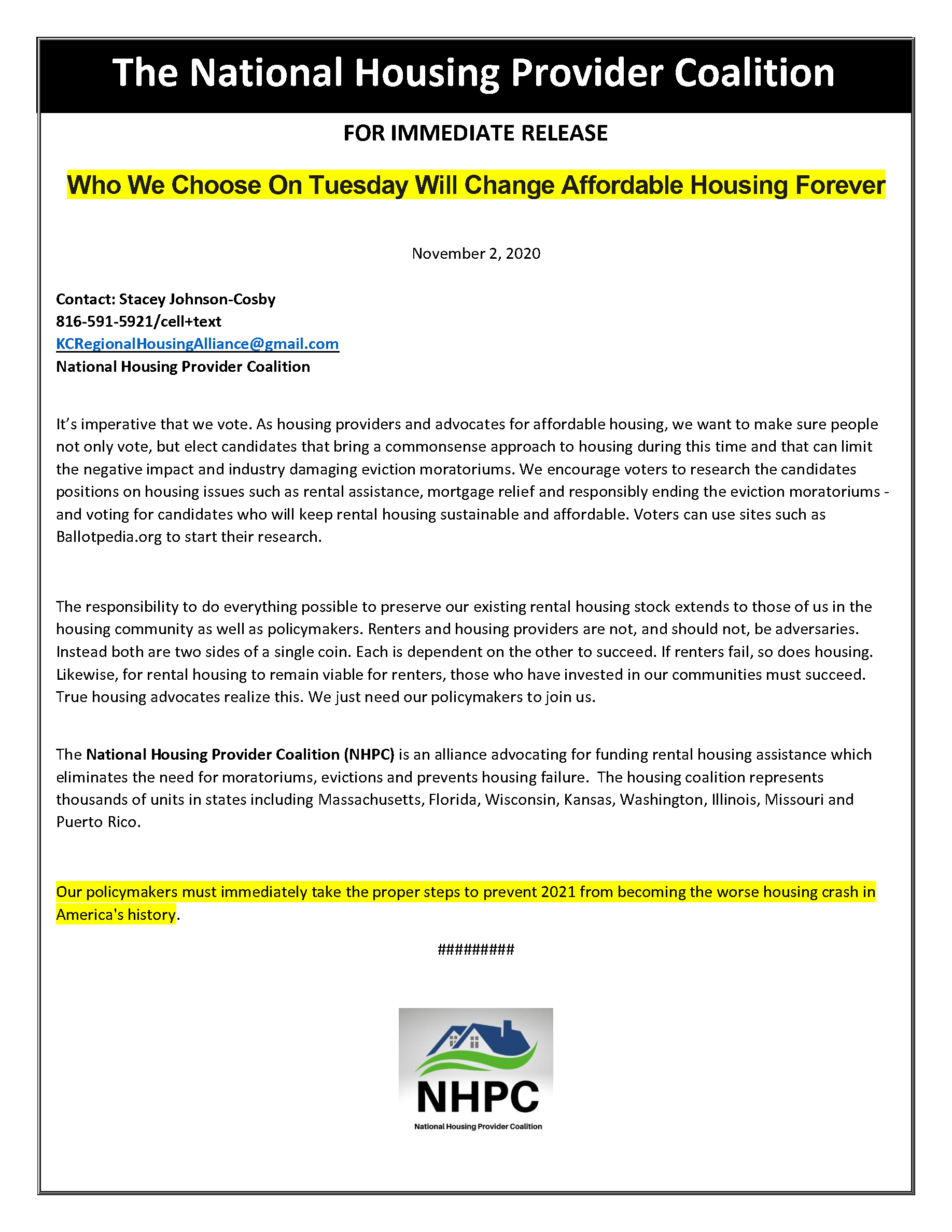 Who We Choose On Tuesday Will Change Affordable Housing Forever