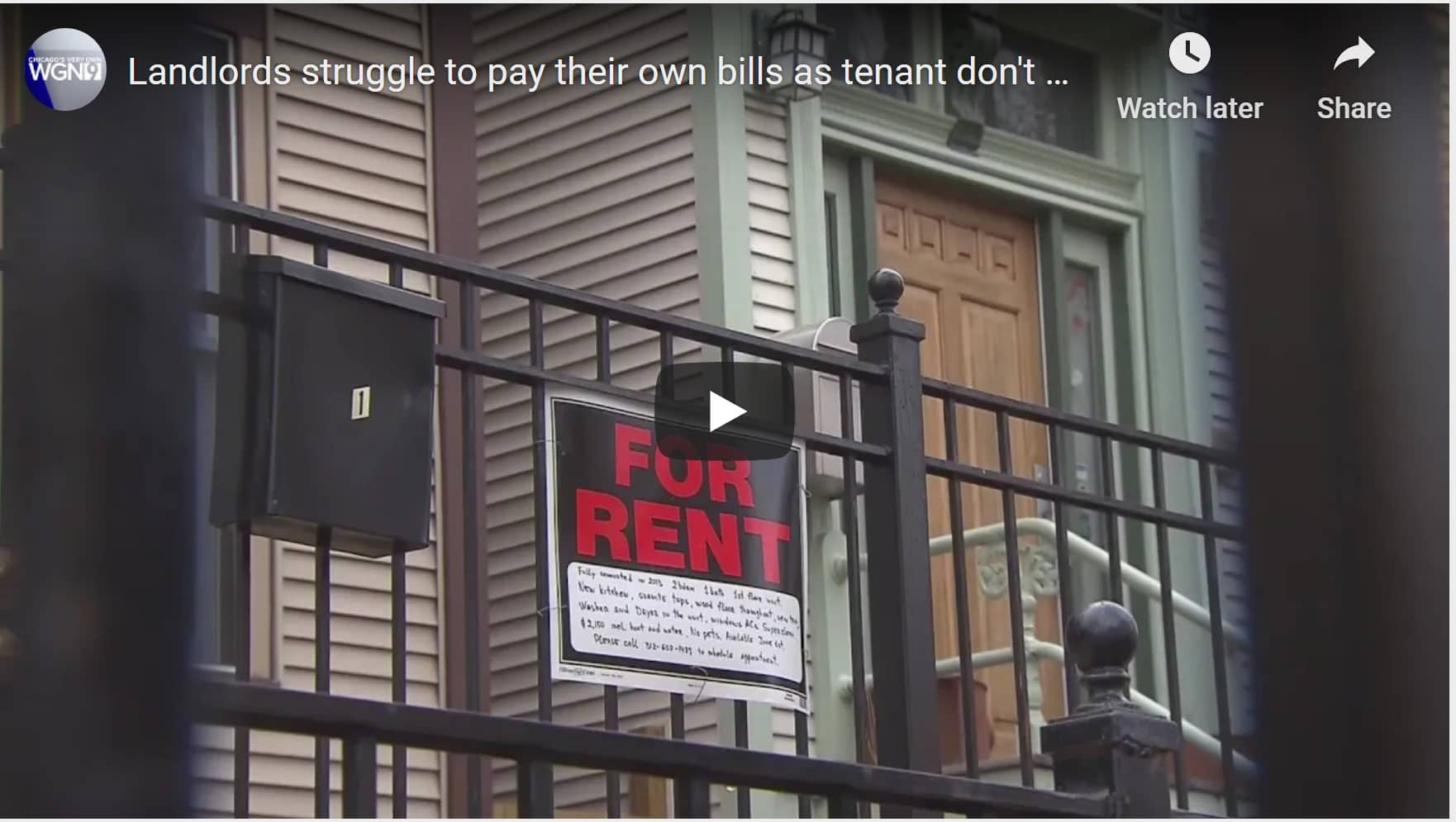 Landlords struggle to pay their own bills as tenant don't make rent