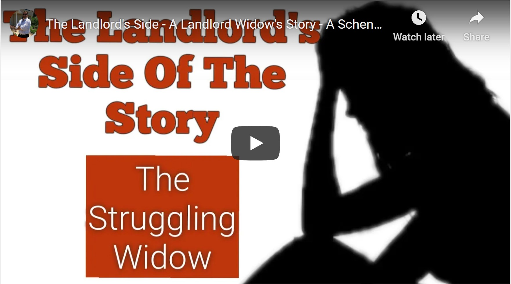 The Landlord's Side - A Landlord Widow's Story - A Schenectady Landlord