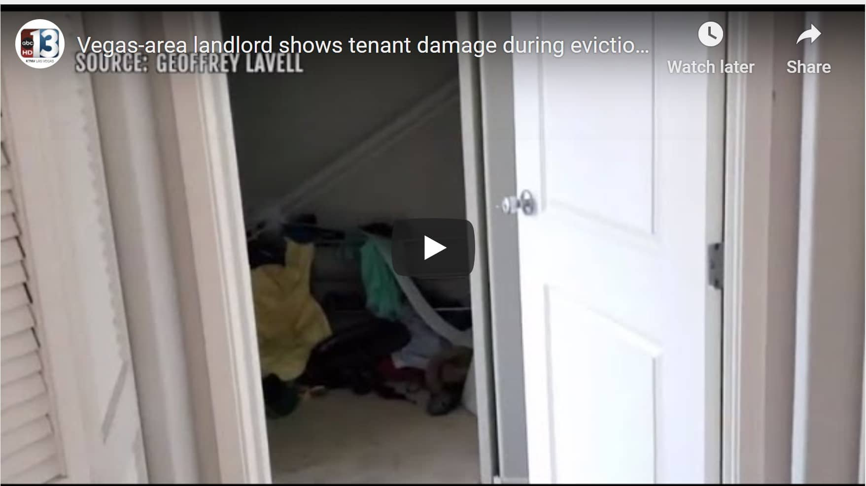 Vegas-area landlord shows tenant damage during eviction moratorium